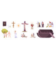 christianity history realistic set vector image