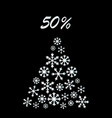 christmas sale banner special offer discount vector image vector image