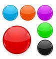 colored glass buttons isolated on white background vector image