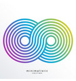 colorful infinity symbol made with stripes vector image