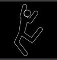 dancer stick white color path icon vector image vector image