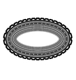 Decorative Oval Frame Isolated vector image vector image