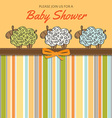 Delicate baby shower card with sheep vector image vector image