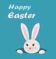 easter greeting card with text happy easter and vector image
