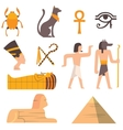 Egypt travel icons symbols vector image