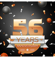 Fifty six years anniversary celebration background vector image vector image