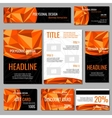 Flyers banners brochures and cards with orange vector image