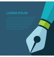 fountain pen icon Eps10 vector image vector image