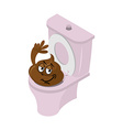 Funny shit and toilet Funny Turd of closet Pink vector image vector image