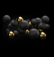 golden and black abstract background with 3d vector image vector image