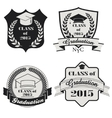 Graduation labels set vector image