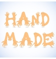 Hand made font vector image vector image