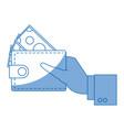 hand with wallet money bill cash vector image vector image