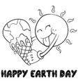 happy earth day style hand draw vector image vector image