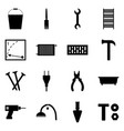 icons of building tools a set of signs vector image vector image