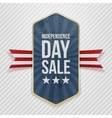 Independence Day Sale festive Tag vector image vector image