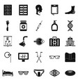 invalid icons set simple style vector image vector image