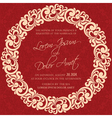 invitation red with round element vector image vector image