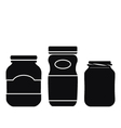 Jar Icons Set vector image vector image