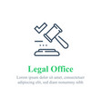 legal office services law firm judge gavel vector image