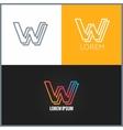 Letter W logo alphabet design icon background vector image vector image