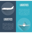 Logistics banner set with airplane vector image vector image