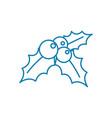 mistletoe linear icon concept mistletoe line vector image
