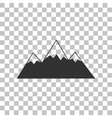 Mountain sign Dark gray icon on vector image vector image