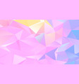 pastel low poly backdrop design with triangles vector image vector image