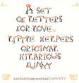 people hearts font designer set handmade vector image