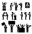 politician reporter election vote a set vector image vector image