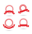 ribbon badge set vector image vector image