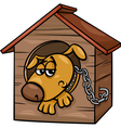 sad dog in kennel coloring page vector image vector image