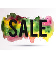 sale-pink-yellow-green vector image vector image