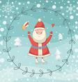 Santa Claus wreath vector image
