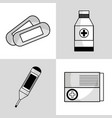 set medical tratment with first aid tools vector image vector image