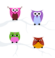 set owls vector image
