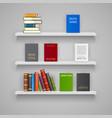 set wood shelves vector image
