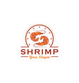 shrimp logo design template vector image