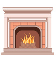 Simple Fireplace Design vector image
