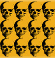 skulls and roses collage background with several vector image vector image
