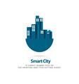 smart city template design vector image