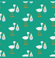 stork brought the baby seamless pattern vector image vector image