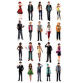 stylish young people from different ethnicity vector image vector image