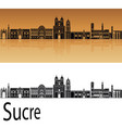 sucre skyline vector image vector image