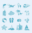 Summer icon set vector image vector image
