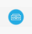 tape recorder icon sign symbol vector image