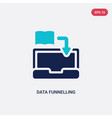 two color data funnelling icon from education vector image vector image