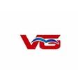VG letter logo vector image vector image