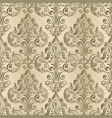 vintage background with damask pattern in retro vector image vector image